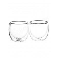 Набор из двух стеклянных чашек с двойными стенками BV-364 200мл