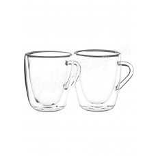 Набор из двух стеклянных чашек с двойными стенками BV-368 280мл