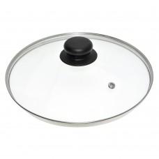 4728 Крышка стеклянная с метал/обод 28см
