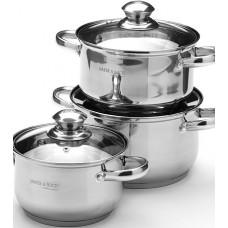 25664 Набор посуды 6пр 2,1+2,9+3,9см нерж
