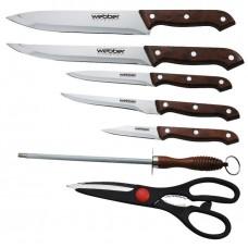 ВЕ-2237 Набор ножей 7 пр в блистере коричн ручка