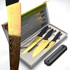 23314 Набор ножей 3пр АНТИБАКТ+овощерезка 3пр МВ