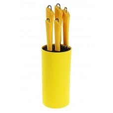 Набор ножей с подстав. желтые