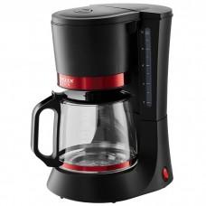 Кофеварка DELTA LUX DL-8152 черная с красным 700Вт