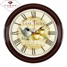 """3527-130 Часы настенные круг """"Tea time"""""""