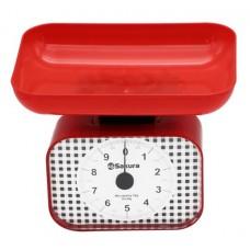 Весы кухон механ SA-6016R 10кг красные