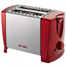 Тостер DELTA DL-073 700Вт 7 позиций красный нерж