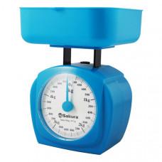 Весы кухон механ SA-6017BL 5кг синие