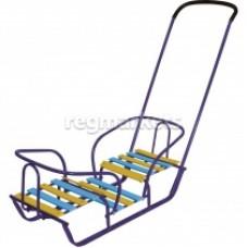 Санки-коляска Тимка2+ Т2+ розовый витрина