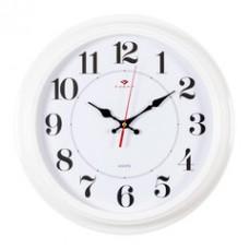 3028-142R Часы настенные белые