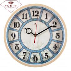 """3027-128 Часы настенные круг """"Цифры в ячейках"""""""