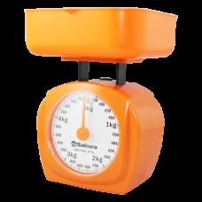Весы кухон механ SA-6017А 5кг оранжевые