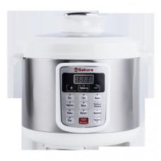 Мультискороварка SA-7764WS 5л нерж+бел 10 режимов