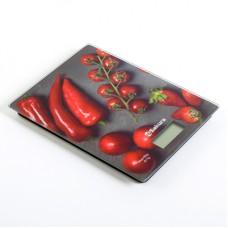 Весы кухон электр SA-6077BS 8кг перцы