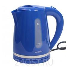 VC-3254 Электрочайник 2200Вт 2,0л диск пластик синий