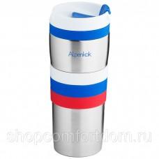 Термокружка вакуумная Alpenkok нерж АК-04005А сталь ТРИКОЛОР 400мл
