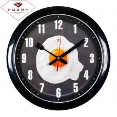 """6026-129 Часы настенные круг """"Яичница на сковороде"""""""