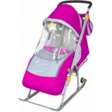 """Санки-коляска """"Тимка 2 комф розовый витрина"""