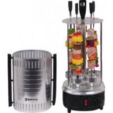 Шашлычница электрич SA-7810SB 1000Вт 5 шамп