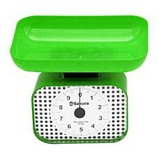 Весы кухон механ SA-6016GR 10кг зеленые