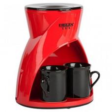 Кофеварка DELTA LUX DL-8131 красная