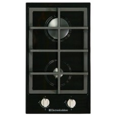плита панель газовая De Luxe TG2_400215F-007 черная, ручки нерж