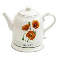 Чайник Galaxy GL0506 электрический со стеклянной колбой, объем 1,8л, 2000Вт