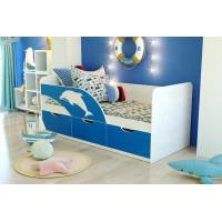 Кровать 11 с ящиками Дельфин