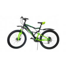 Велосипед горный ABD-2610 21ск диск черно-зеленый