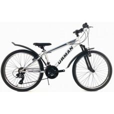 "Велосипед 24"" URMAN T19B220-24 рама 13 Classic серебро (8)"