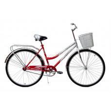 Велосипед Кумир 28 (2810) без рамы+корзина зеленый, жен