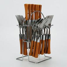 4986 Набор стол/приб 24пр на подст пл/руч