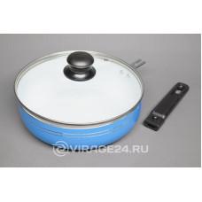 Сковорода DO-5010 Добрыня 22/6,5см крышка сьемн ручка