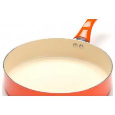 22261-1 Сковорода 24 см с/кр сил/руч керам/алюмин