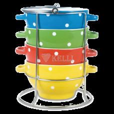 Набор керам супниц 4 пр на подст BV-384