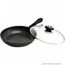 Сковорода VS-7552-26 с крышкой мраморн покрытие