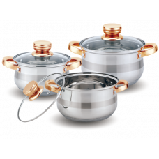 Набор посуды 6 предм KL-4216 нерж