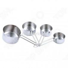 Набор мерных кружек BS-05-870 сталь (0,06л+0,08л+0,125л+0,25л)