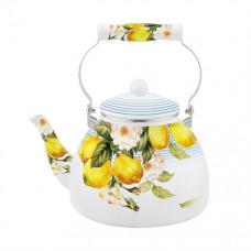 """ЕМ-50Х1/47 Чайник эмаль с керам ручкой """"Лимон"""" 5л"""