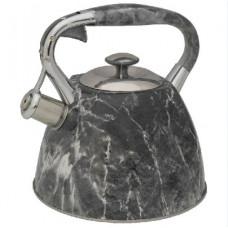 Z-4186 Чайник со свистком 3,0л нерж серый