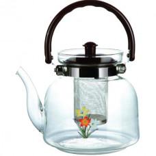 Чайник заварочный из жаропрочного стекла ЭЛ-800 0,8л съемное ситичко