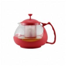 Z-4105 Чайник заварочный 800мл, корпус из термостойкого стекла красный