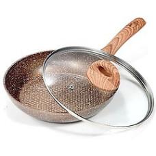 Сковорода VS-7553-26 с крышкой мраморн покрытие