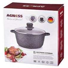 MG-307 Набор посуды 8 предметов внутр и внеш каменное покрытие с гранитной крошкой (3 кастрюли с крышками: 3л, 5,5л, 7,0л, сковорода скрышкой 4,0л