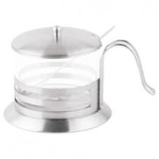 Z-1183-01 Сахарница с ложкой 300мл нерж/стекло