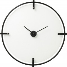 "3024-001 Часы настенные корпус белый ""Структура де"