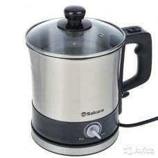 Кастрюля-чайник электр SA-2132 3 в 1 нерж