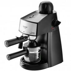 Кофеварка DELTA LUX DL-8151К черная рожковая 240мл