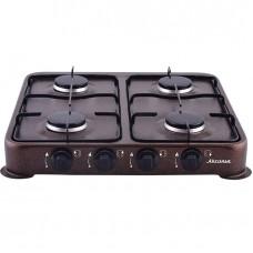 Газ. плита Аксинья четырехконфорочная КС-104 коричневый