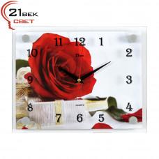 "2026-1082 Часы настенные ""Роза с подарком"""